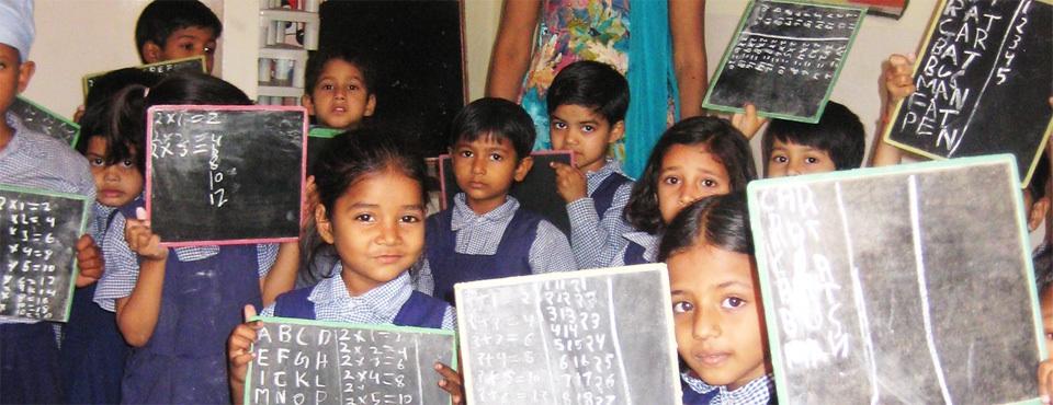 Girls learning in School