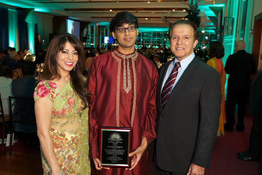 Making a Difference Award Winner Manjul Bhargava, with Poonam and AJ Khubani of Telebrands
