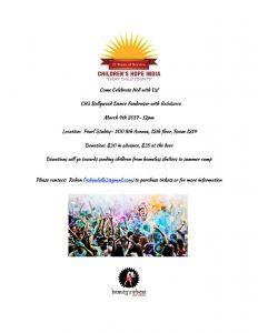 CH3 Bollywood Dance Fundraiser