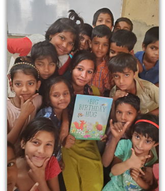 Smiling Students With Book